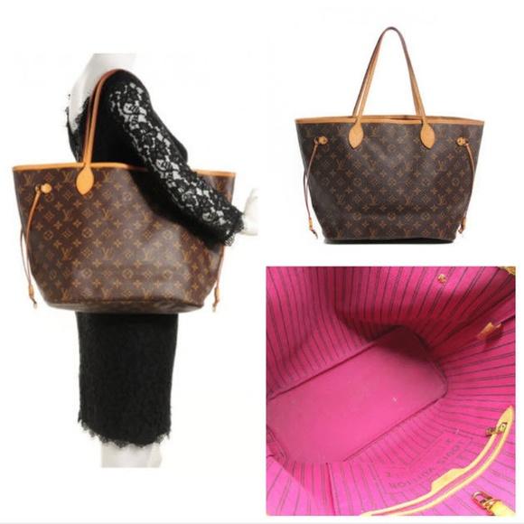 80f124bc3c45 Louis Vuitton Handbags - Louis Vuitton 2016 Neverfull MM Monogram Pivoine